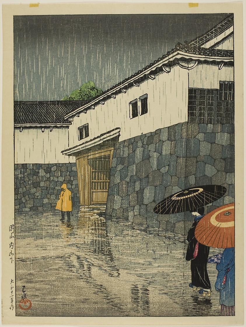 "Uchiyamashita, Okayama, from the series ""Selection of Scenes from Japan"" (1923) by Kawase Hasui  (1883-1957)"