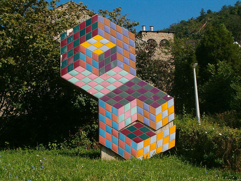 Hungary, Public Art Work by Victor Vasarely