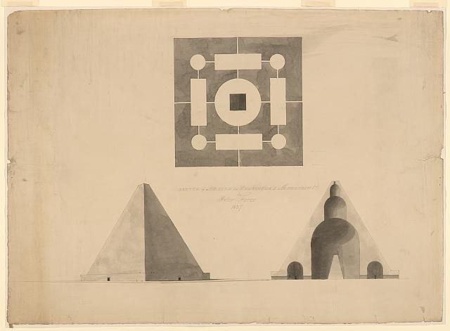 Designing the United States Capital: A photo essay | Architectural drawing for the Washington Monument, Washington, D.C. (1837) via Library of Congress