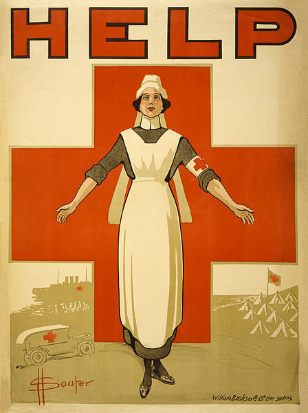 Red Cross Poster During the Great War by Souter, David Henry