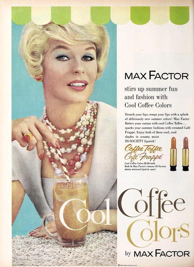 Max Factor Lipstick Ads 1935 - 1960: A photo essay  | Max Factor Lipstick Ad 1960
