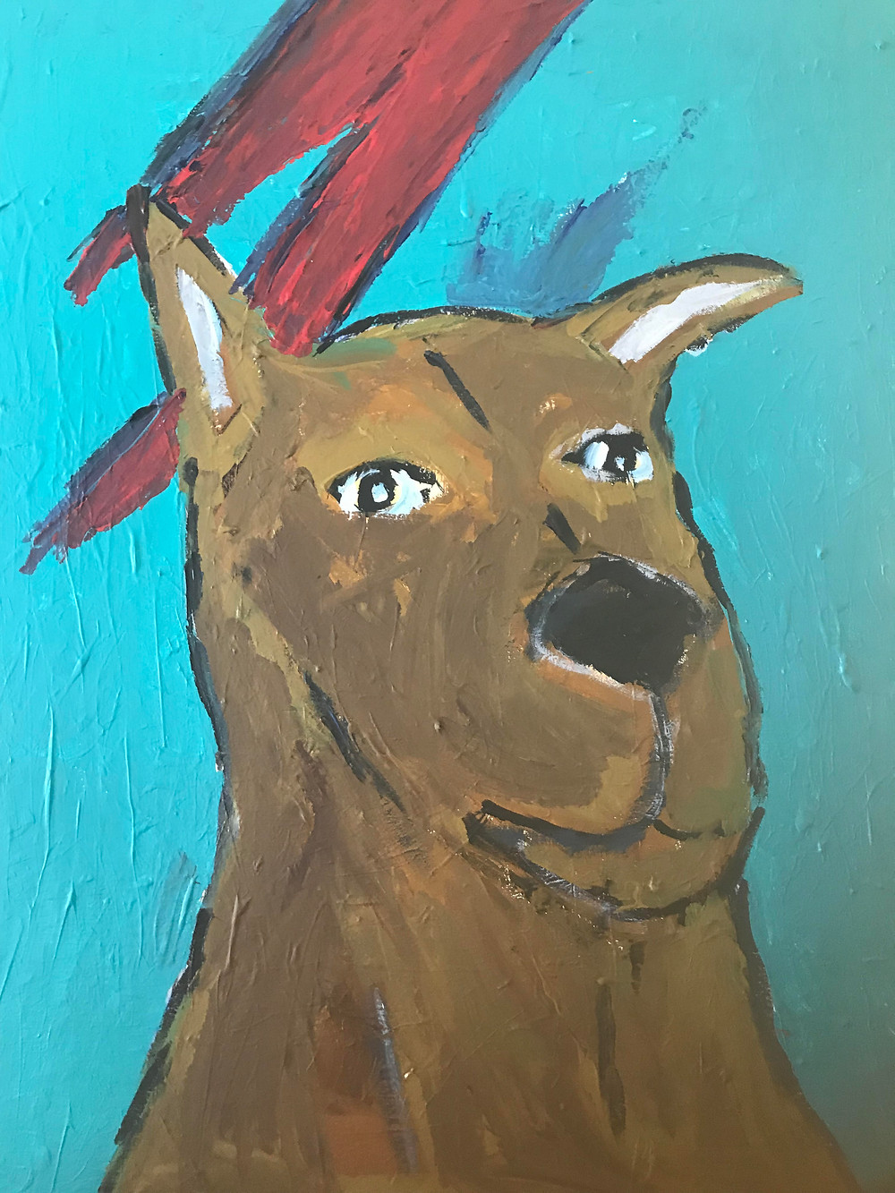 Event: Eric Ginsburg & Natalie Fisk Discuss the 6th Edition of the Fridge Art Fair NYC Happening During Frieze Week at the Nu Hotel | Dog Painting by Eric Ginsburg