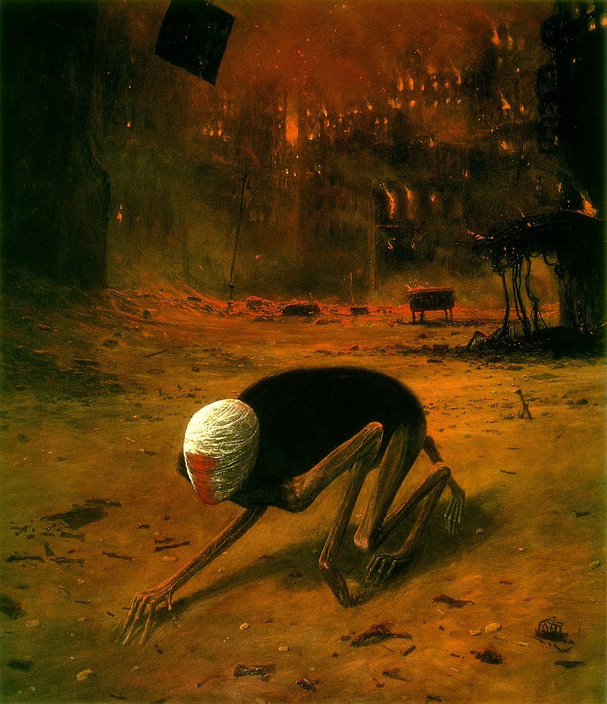 Zdzisław Beksiński and Decay in the Light of Contemporary Polish Art | Crawling Death (1970s)