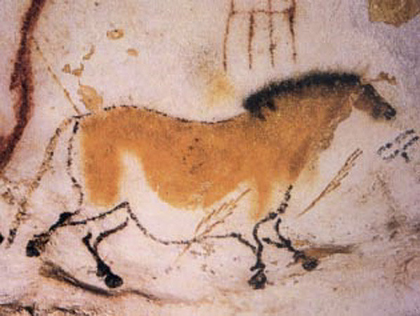 The Curious Intersection of Food and Fine Art | Horse from the Lascaux caves made by the Cro-Magnon peoples at their hunting route in the Stone age
