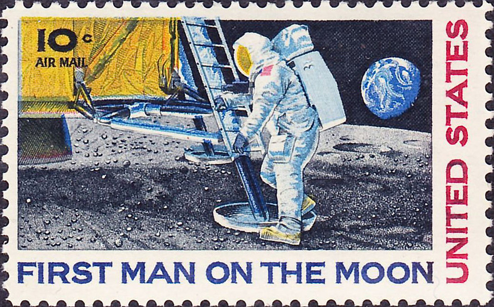 First Man on Moon | Commemorative Issue | September 9, 1969 | Public Domain Wiki