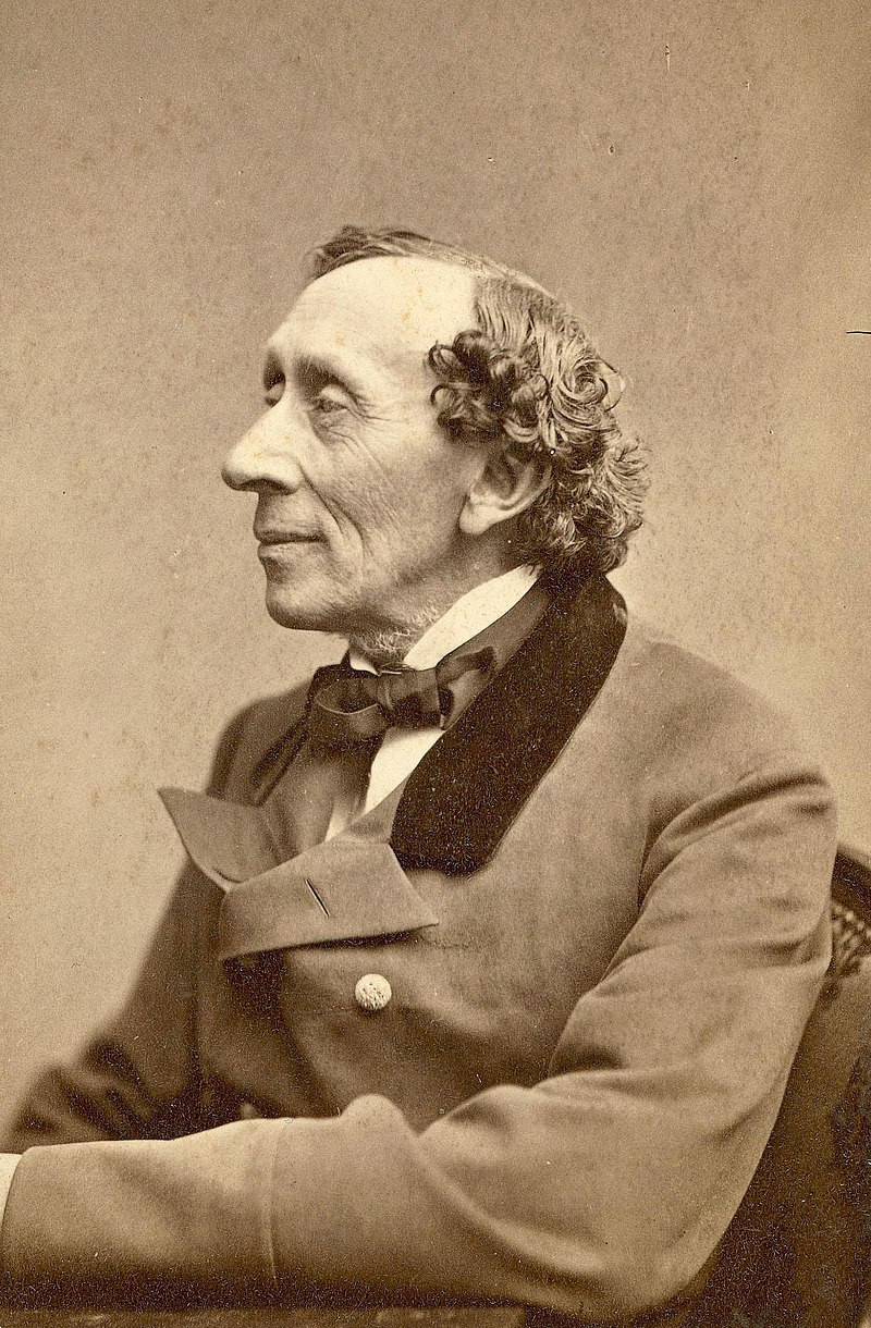 Andersen in 1869 by Thora Hallager (1821–1884)