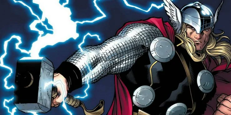Thor and his mighty hammer Mjolnir