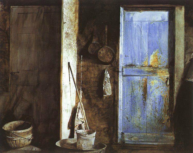 """Alvaro & Christina"" (1968) by Andrew Wyeth via Farnsworth Art Museum"
