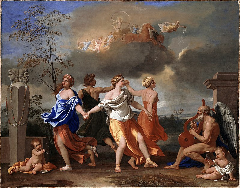 """A Dance to the Music of Time"" (1634)  by Nicolas Poussin (1594 — 1665)"