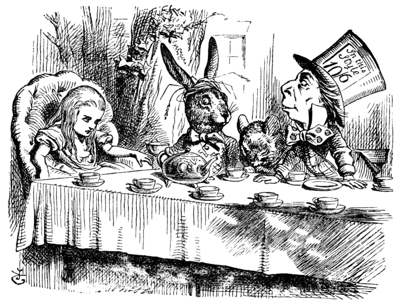 The Mad Tea Party | Illustration by John Tenniel  (1820–1914)