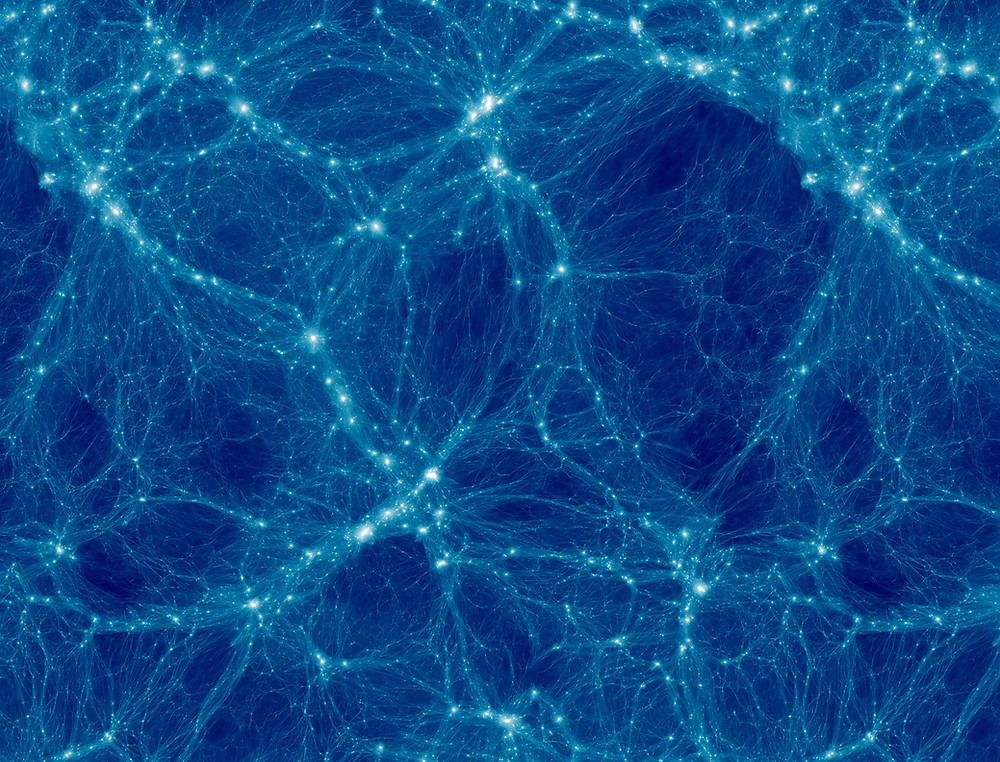 Weaving the Fabric of the Universe: How astrophysics and textiles are helping researchers shape dark matter | Simulation of the cosmic web of dark matter (visualization in collaboration with Philip Mansfield)