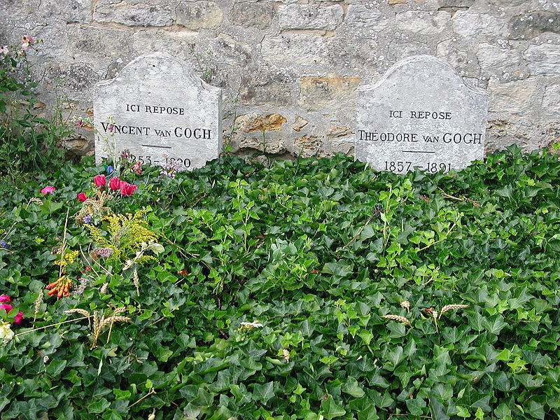 Vincent and Theo van Gogh's graves at the cemetery of Auvers-sur-Oise