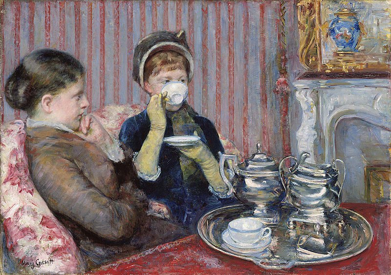 Mary Stevenson Cassatt: American Impressionist in Paris | Tea (1880) by Mary Cassatt