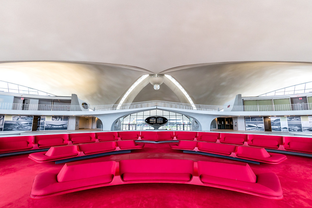 The TWA Hotel: America's Aviation Icon Returns | Image of the TWA Flight Center, inside, by Max Touhey
