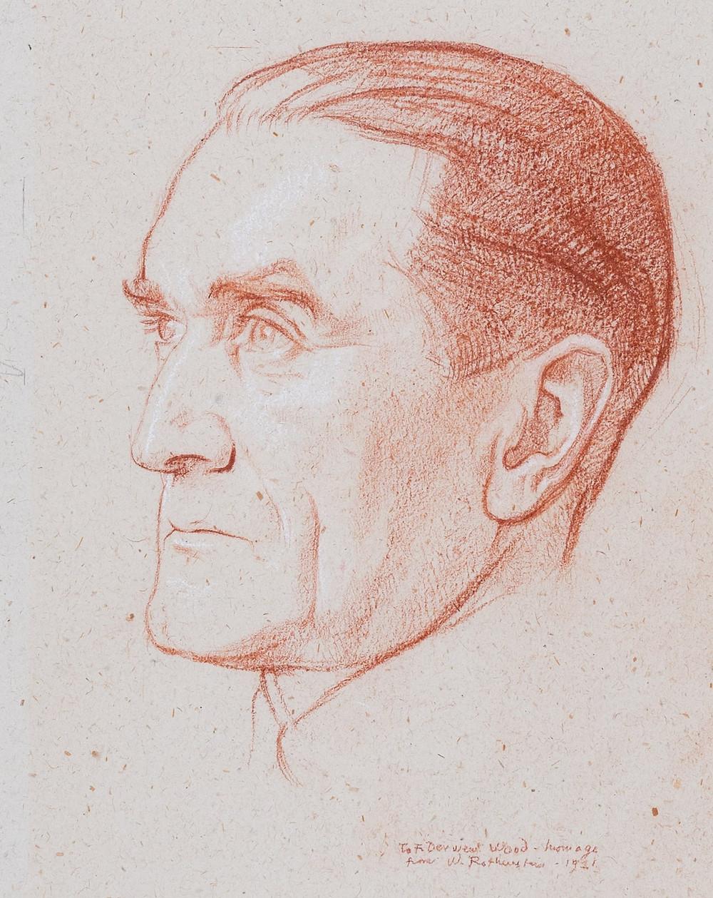 Francis Derwent Wood (1921) by William Rothenstein
