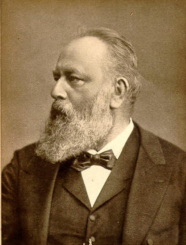 Photog of Theodor Billroth in 1887