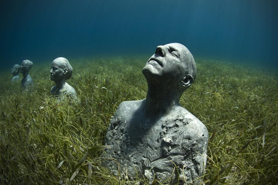 """""""Anchor"""" in Mexico by Jason deCaires Taylor"""