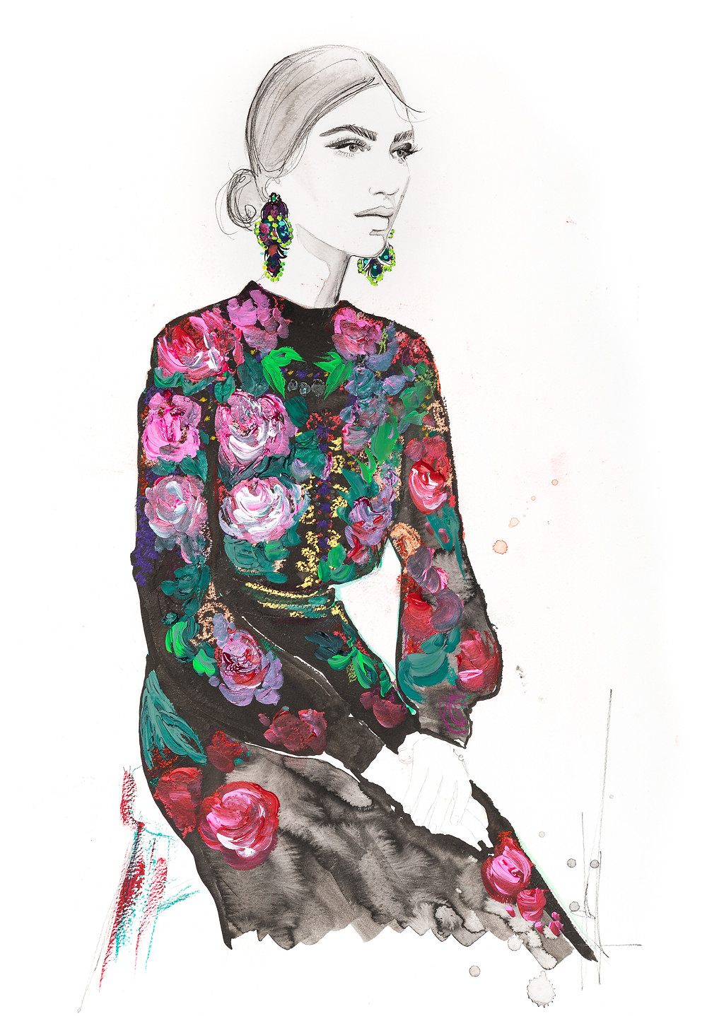 Stunning Contemporary Fashion Illustrations: A photo essay | Roses