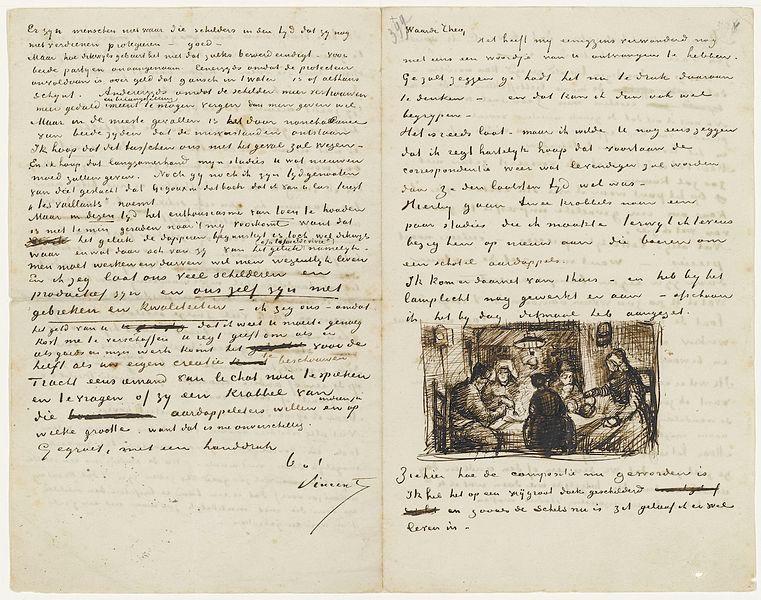 From Vincent Van Gogh to Theo Van Gogh | April 9, 1885