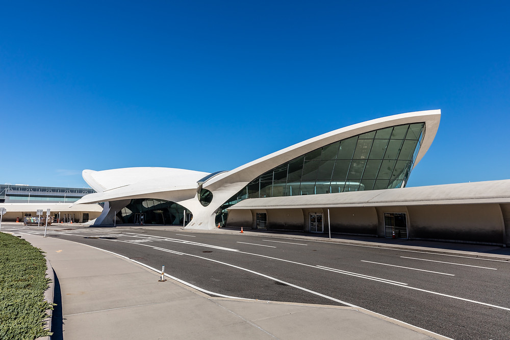 The TWA Hotel: America's Aviation Icon Returns | Image of the TWA Flight Center, outside,  photo by Max Touhey