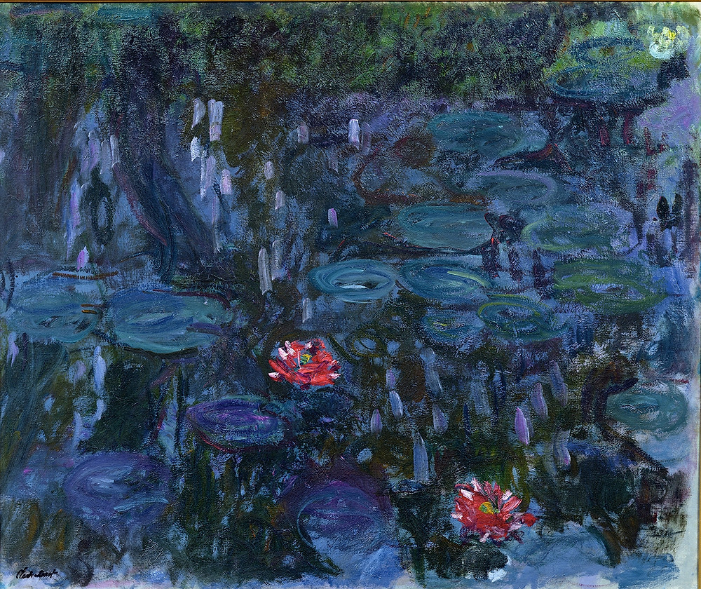 Water Lilies and Reflections of a Willow (1916–1919) at the Musée Marmottan Monet in Paris by Claude Monet (1840 - 1926)