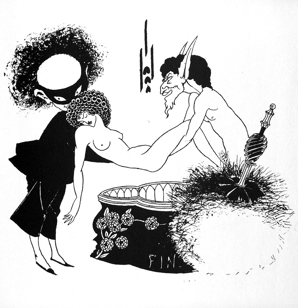 "Aubrey Beardsley, ""The Burial of Salome,"" from Oscar Wilde's ""Salome"" 