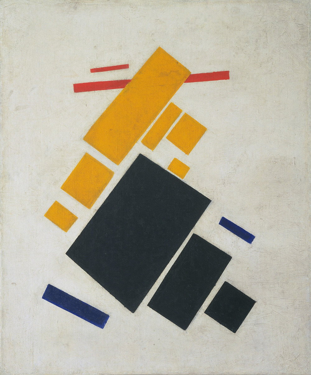 """""""Airplane Flying: Suprematist Composition"""" (1915) by Kazimir Malevich"""