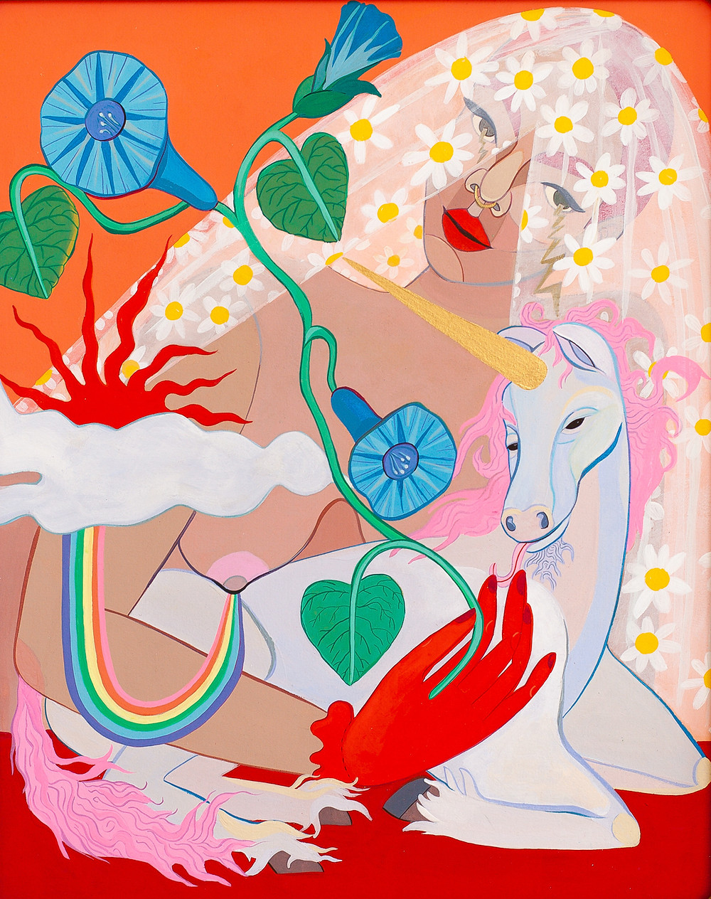 """""""Rainbows and Unicorns"""" by Meg Lionel Murphy at The Untitled Space"""