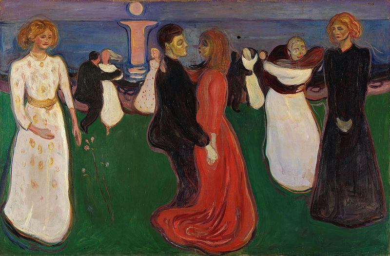 """The Dance of Life,"" or ""Life's Dance"" (c. 1899 – 1900) by Edvard Munch (1863 — 1944)"