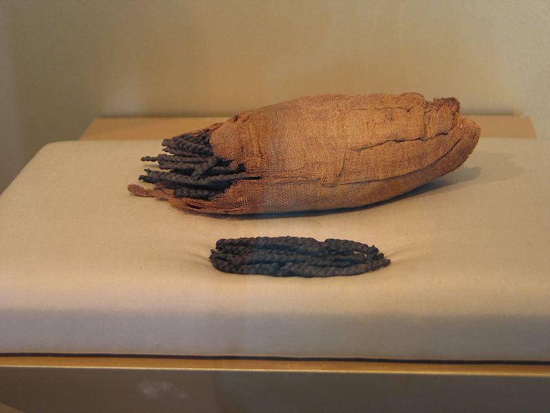 Blond Didn't Come From a Bottle: A short history of hair color | Ancient Egyptian human hair extensions for wigs | DATES ca. 2114-1502 B.C.E. | Brooklyn Museum