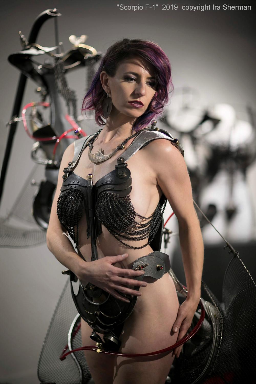 "Model Daphne Mosko in ""Scorpio"" by Ira Sherman"
