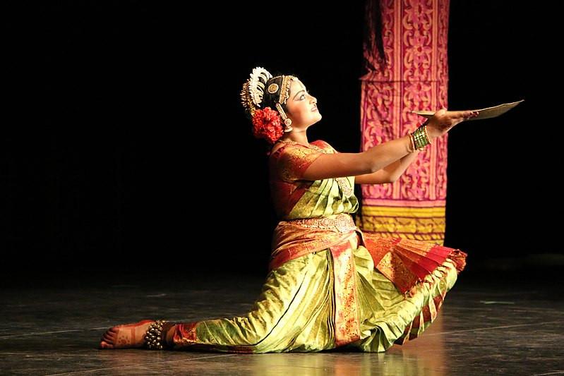 Kuchipudi Dancer Performing a Tarangam | Credit: Yunji23asdfg