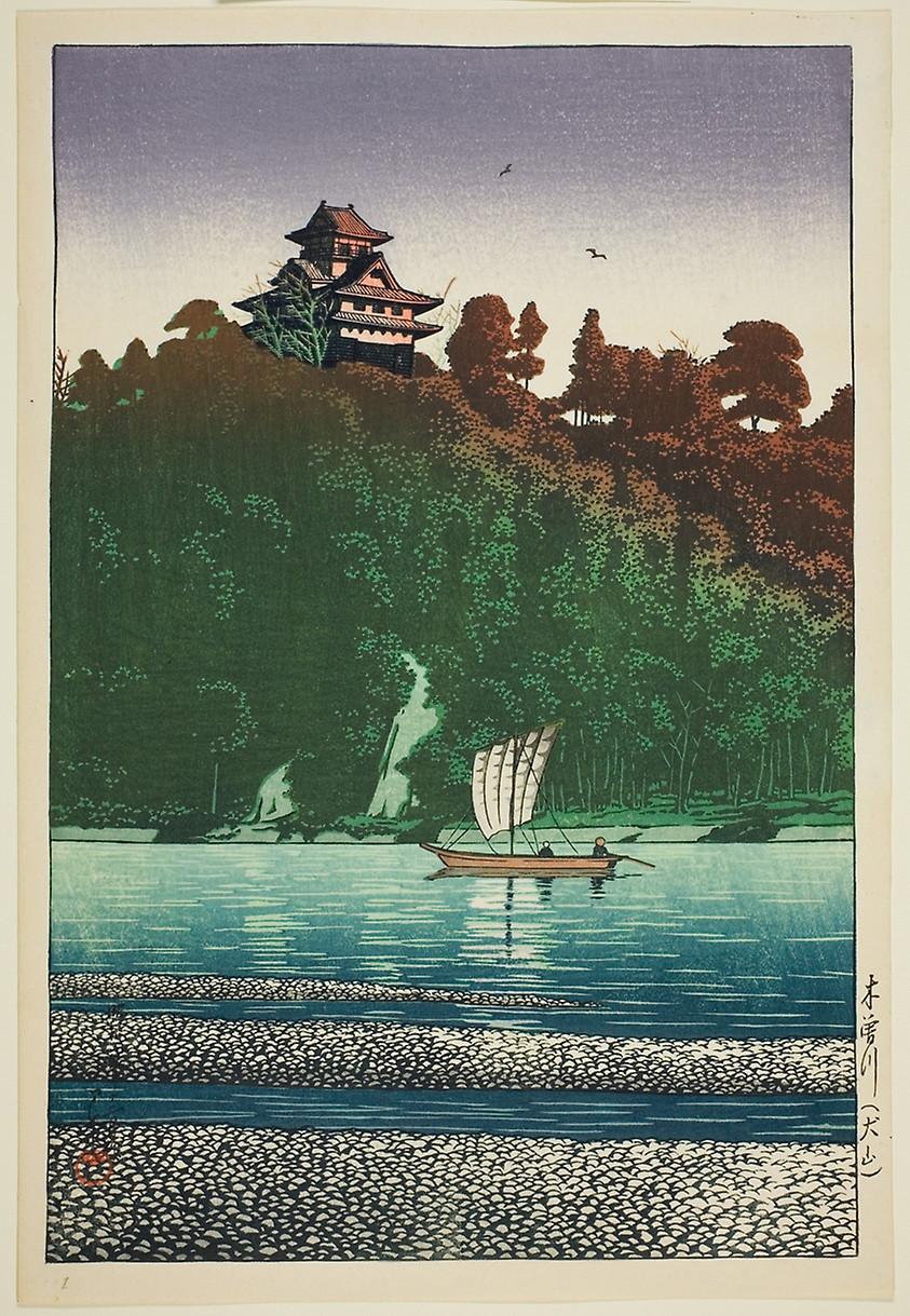 Kiso River at Inuyama (1927) by Kawase Hasui (1883-1957)
