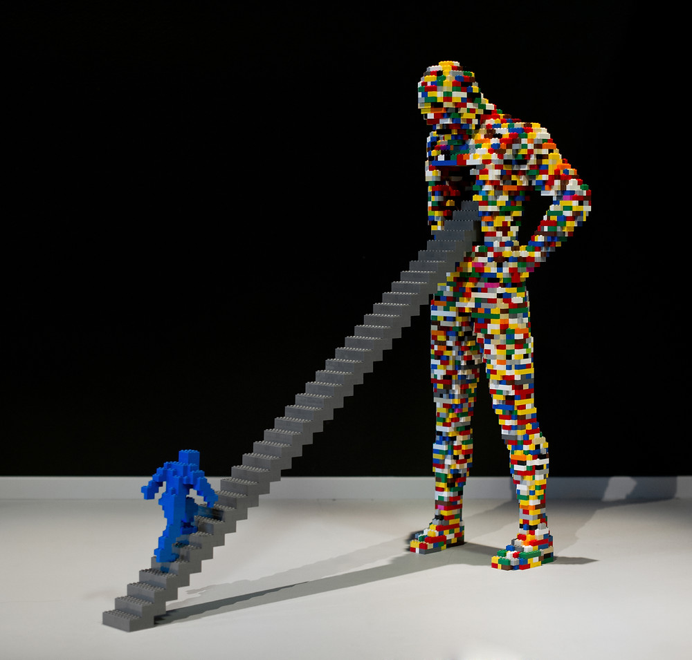 "Pop Culture, Internal Angst, and the LEGO Art of Nathan Sawaya | ""Stairway"""