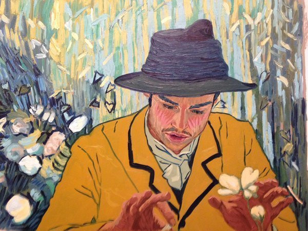 """""""Armand in Gachet's Garden"""" (2017) by Dena Kirk (Peterson) 