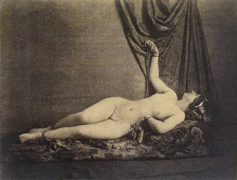 Female Nude, Reclining, in Profile, Julien Vallou de Villeneuve (1853) | The New Nude