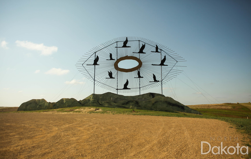See the World's Largest Metal Sculpture, Ride the Enchanted Highway, Sleep in a Medieval Castle