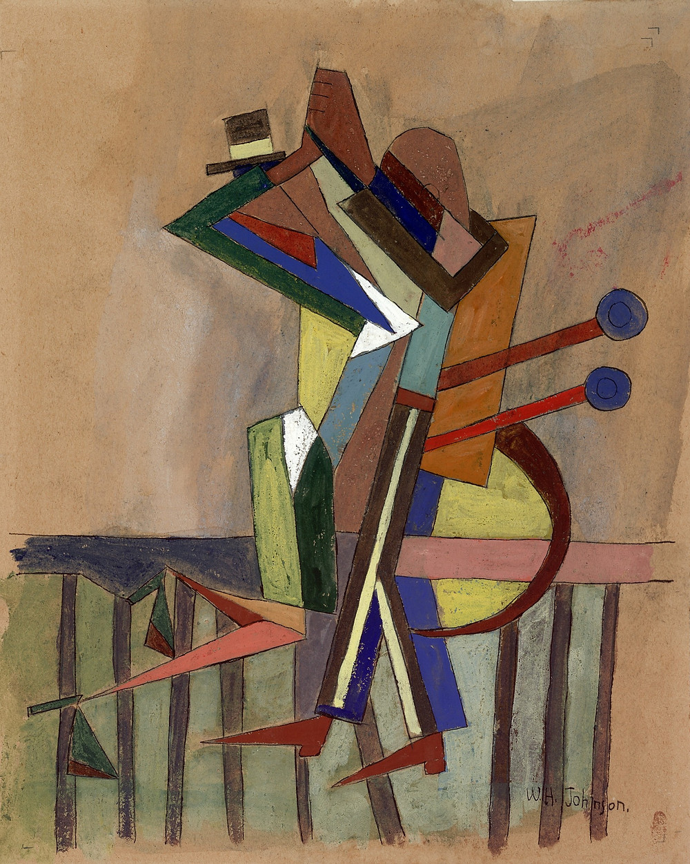 William H. Johnson, Jitterbugs (IV), ca. 1941, tempera and pen and ink with pencil on paper, Smithsonian American Art Museum, Gift of the Harmon Foundation, 1967.59.1090R-V