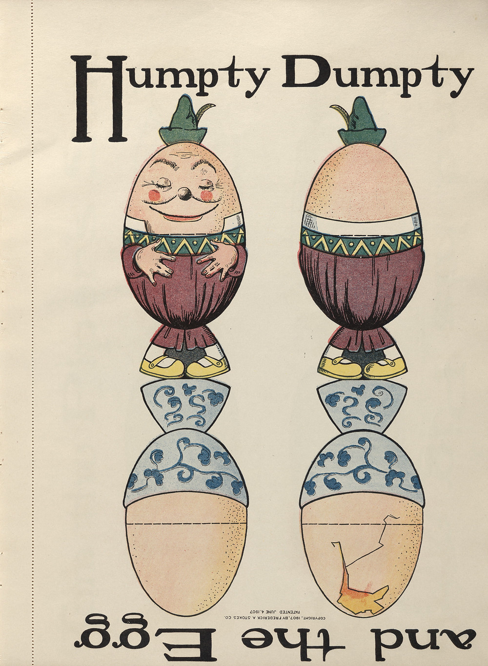"The Twelve Magic Changelings (1907) by Glen, M. A.: A photo essay | ""Humpty Dumpty and the Egg"""