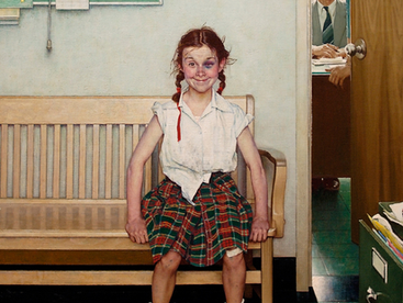 """The Sweet Story Behind Norman Rockwell's Hilarious Painting """"The Young Lady with the Shiner"""""""