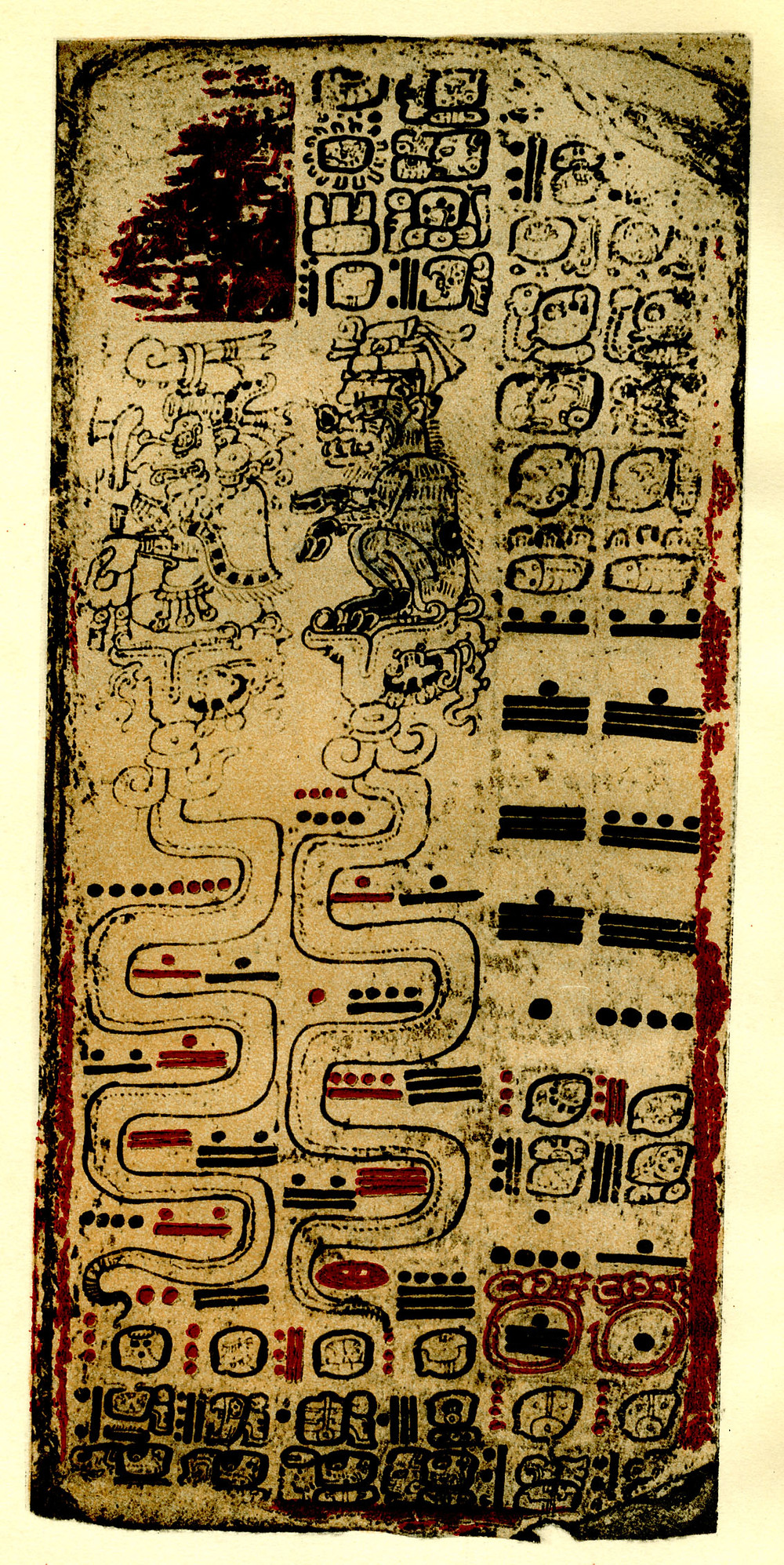 Maya Hieroglyphs Plate 32 of the Postclassic Dresden Codex