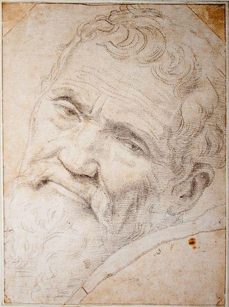 """Portrait of Michelangelo Buonarroti"" by Daniele da Volterra ("