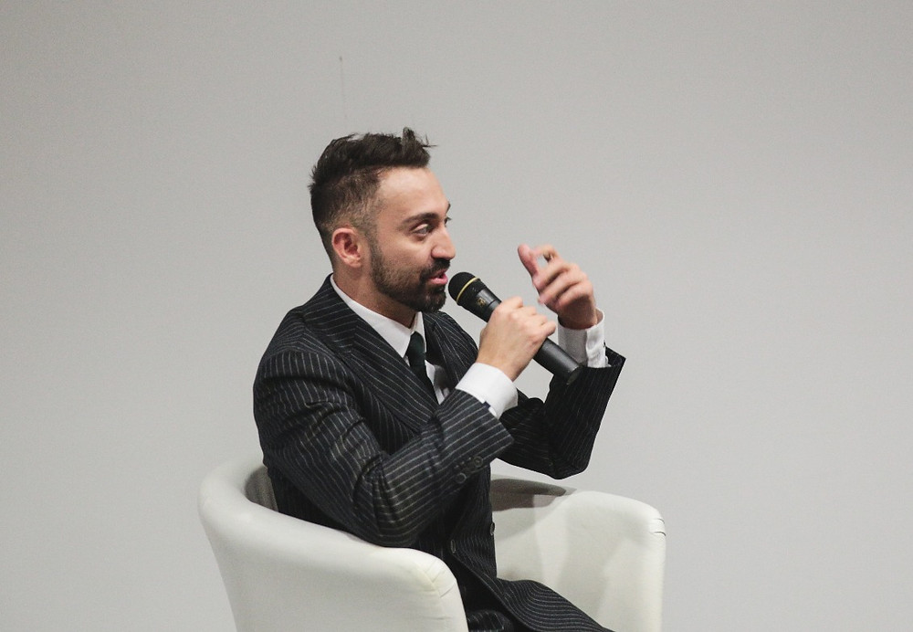 Exploring the Fascinating Realm of Fashion Diplomacy: Interview with the Director of the Social Media Center & Fashion Journalism at the Academy of Art University | Stephan Rabimov Stephan Rabimov delivers a keynote talk at the Fashion Futurum conference in Moscow