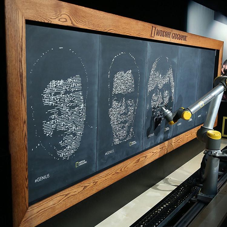 Cobots the Creators: Collaborative robots and the disruption of art | Portraits by UR10 via Deeplocal