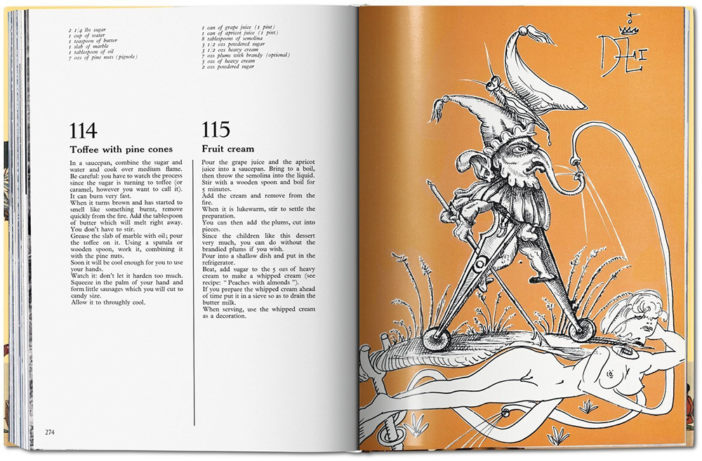 "Illustrated Cookbooks: Salvador Dalí & Andy Warhol |  ""Les diners de Gala"" by Salvador Dalí"