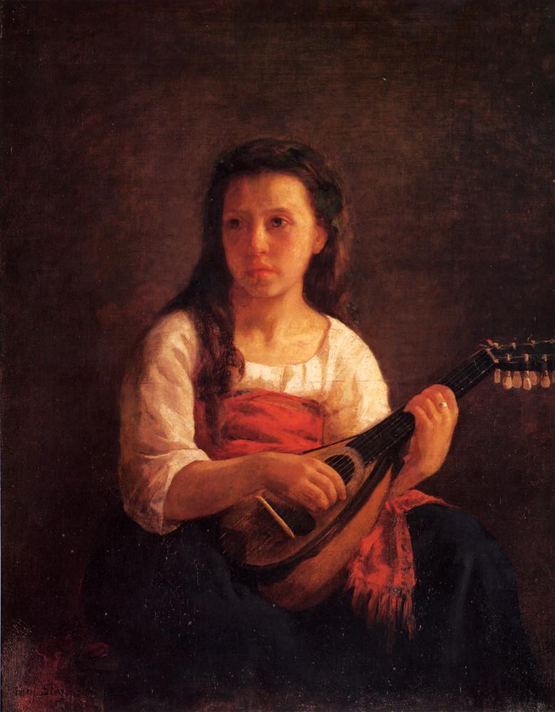 Mary Stevenson Cassatt: American Impressionist in Paris | The Mandolin Player (1788) by Mary Cassatt