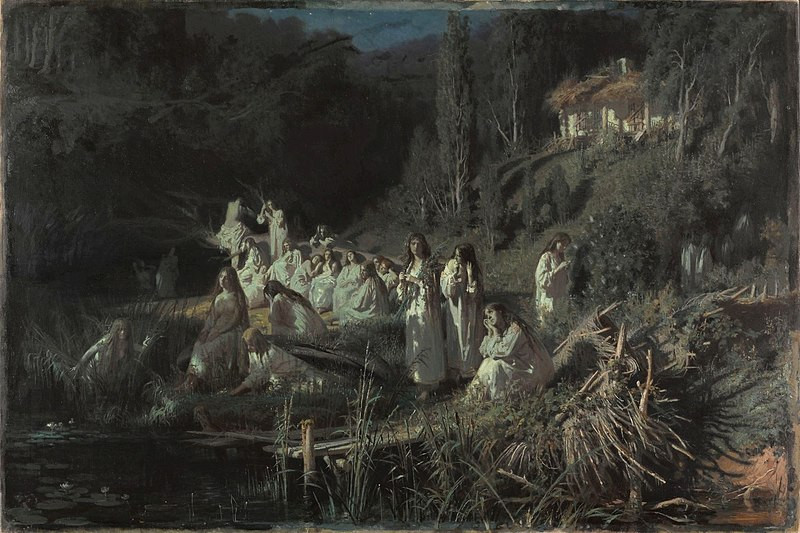 The Mermaids, or Rusalki (1871) by Ivan Kramskoi