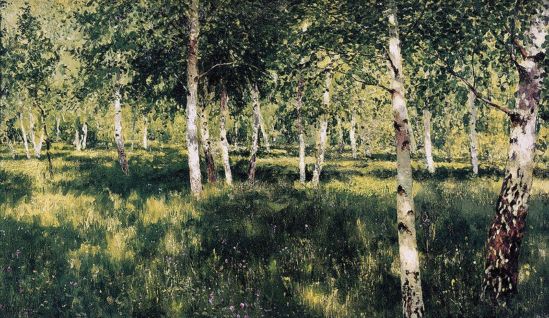 Birch Grove (c. 1885 — 1889) by Isaac Levitan (1860 — 1900)