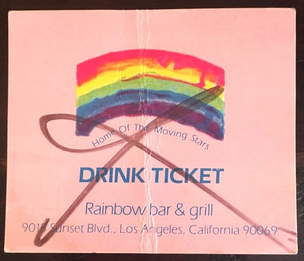 Rainbow Bar & Grill Drink Ticket