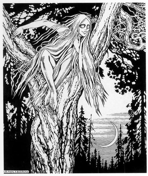 Rusalka (1934) by Ivan Yakovlevich Bilibin (1876 - 1942)